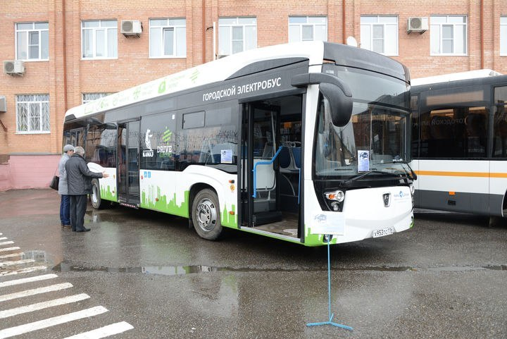 КАМАЗ представил вПодольске новый электробус