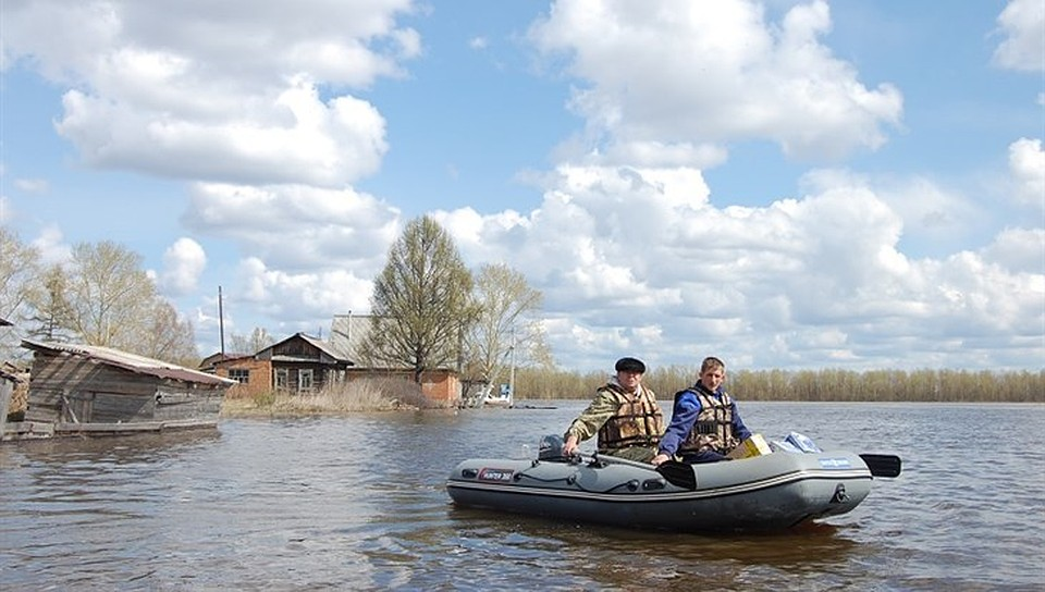 Взатопленных районах Омской области почту жителям будут доставлять налодках