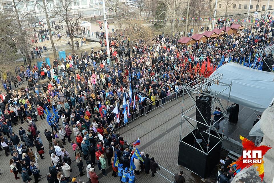 Митинг против террора вНижнем Новгороде собрал около 2-х тыс. человек