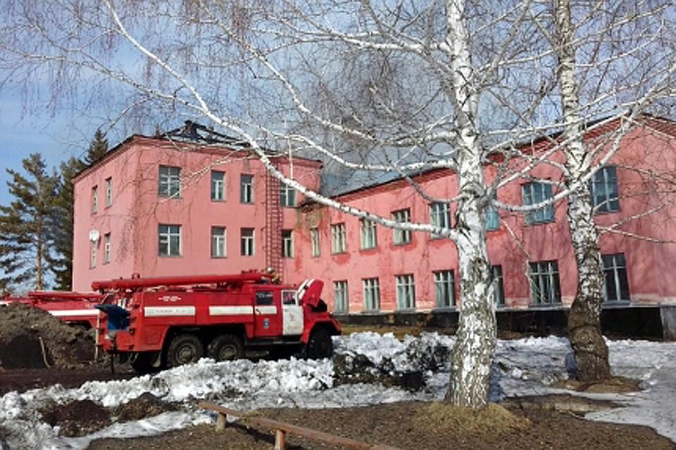 Воспитанников эвакуировали изгорящей школы наАлтае