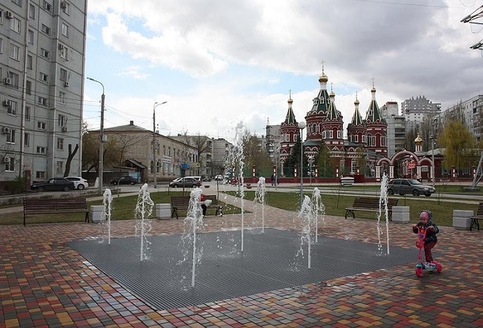 УКазанского храма Волгограда накануне Пасхи открыли новый «сухой» фонтан