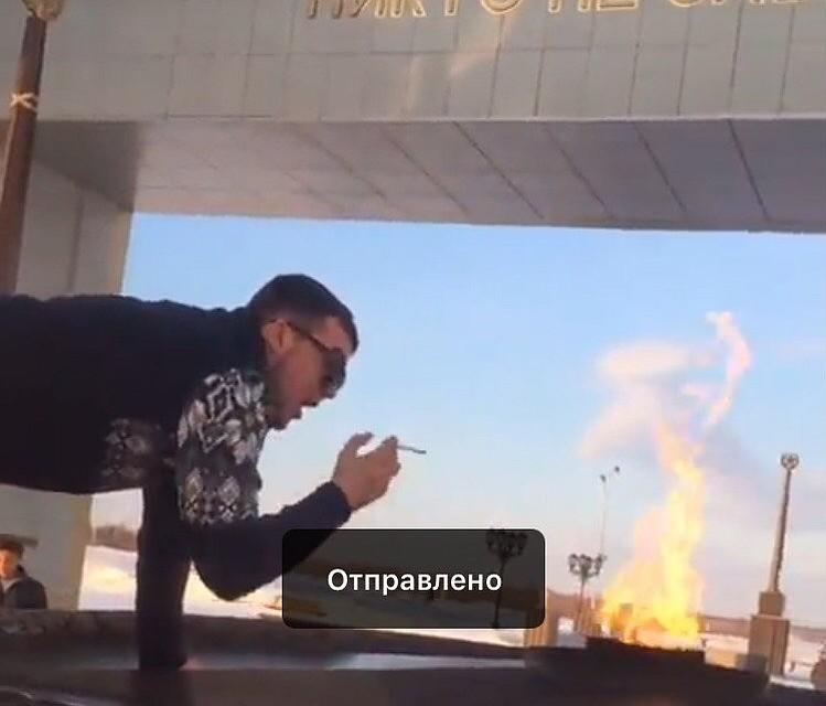 Сын предпринимателя прикурил от бессрочного огня вСалехарде