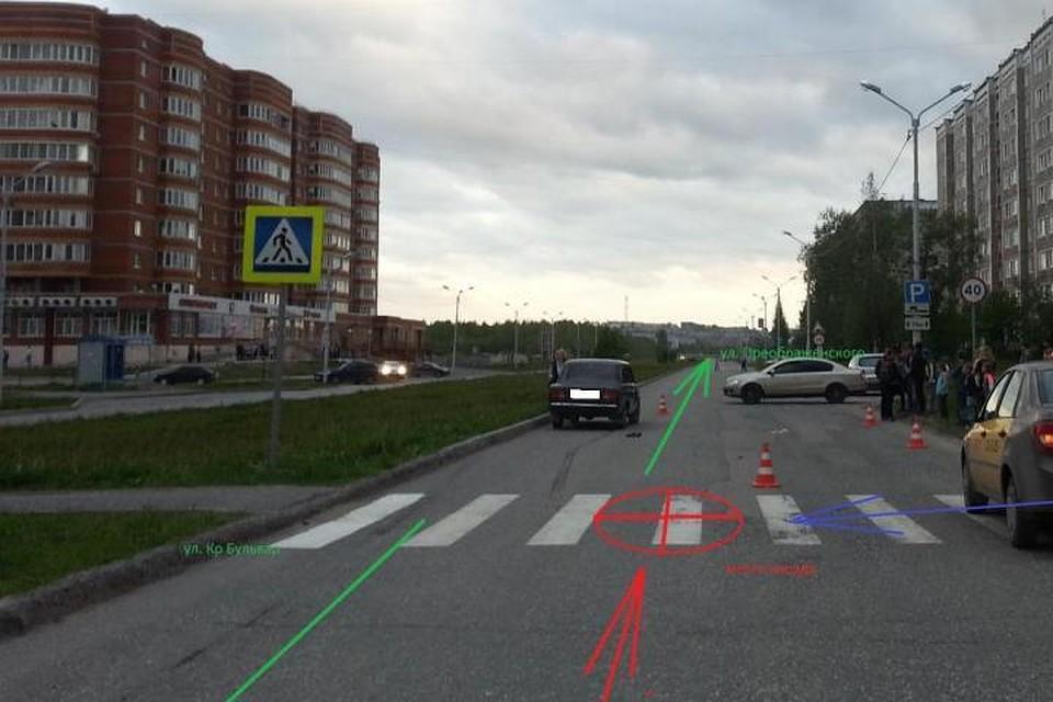 ВСоликамске молодой шофёр сбил 2-х детей