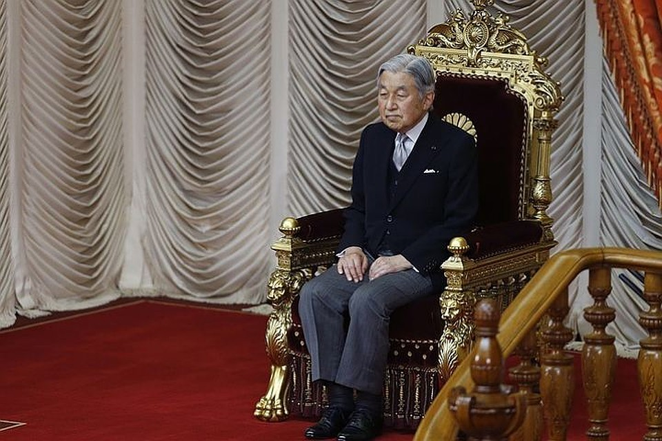 Закон оботречении императора введен вдействие вЯпонии