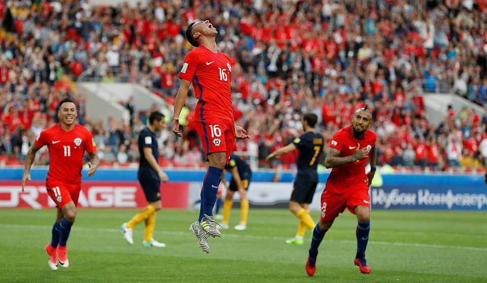 Сборная Чили вышла вполуфинал Кубка конфедераций