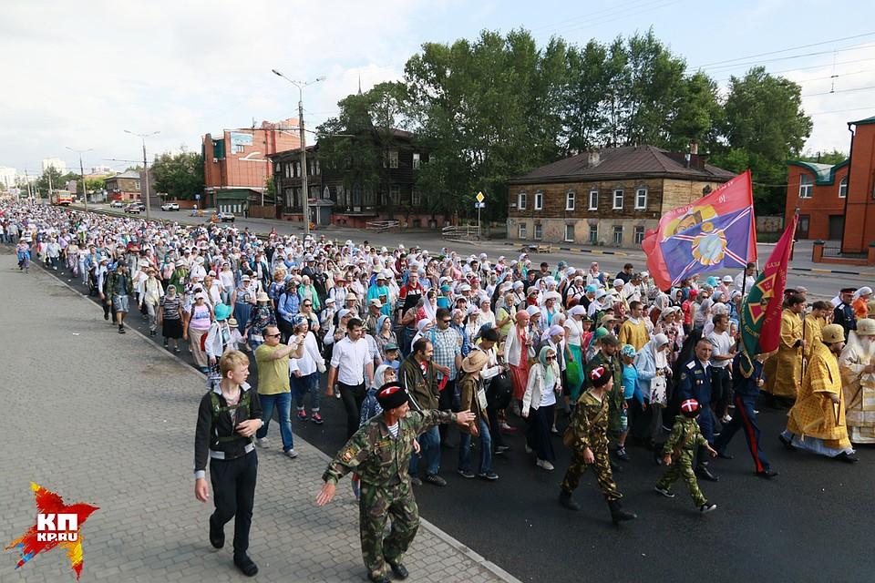 Верующие направились в200-километровый крестный ход изБарнаула