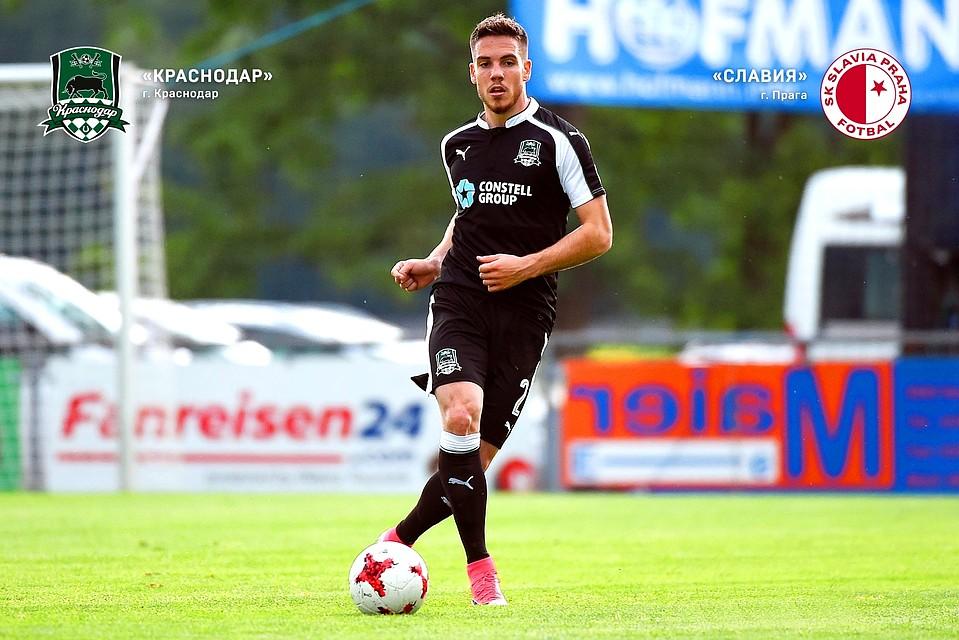Футболисты «Краснодара» сыграли вничью счешской «Славией» вконтрольном матче
