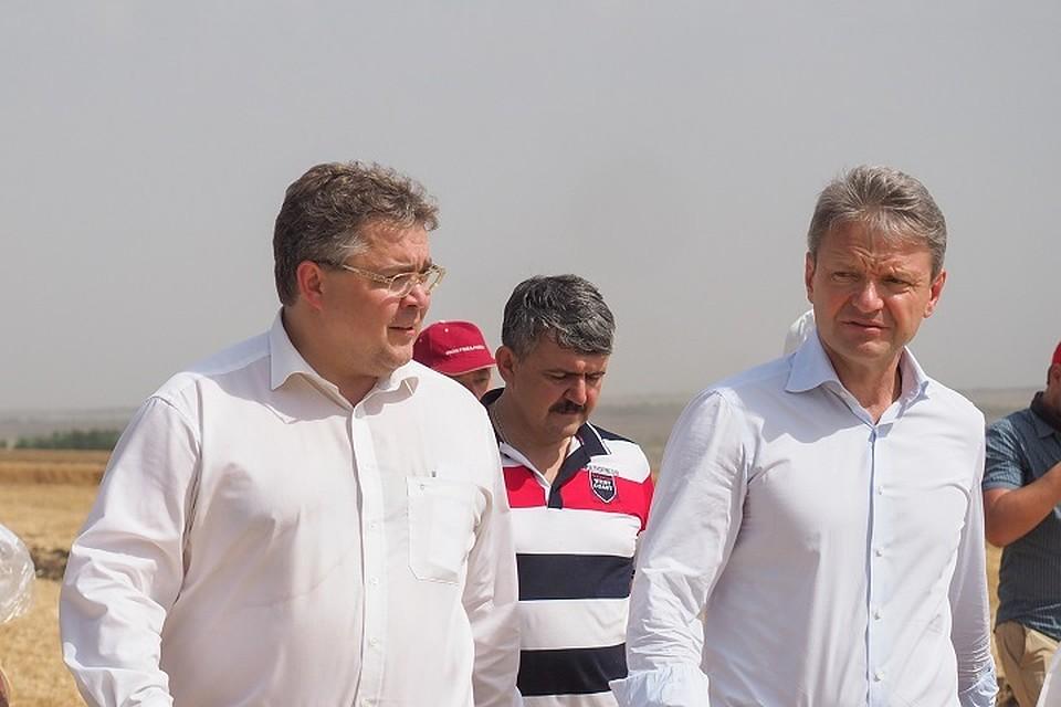 Руководитель МинсельхозаРФ А.Ткачёв высоко оценил темпы уборочных работ наСтаврополье?