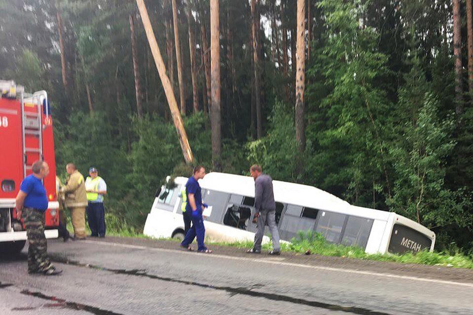 ВПерми при крушении автобуса пострадали девять человек