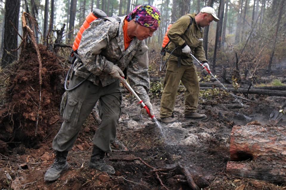 Ан-26 вызывает осадки для тушения лесных пожаров вЯкутии