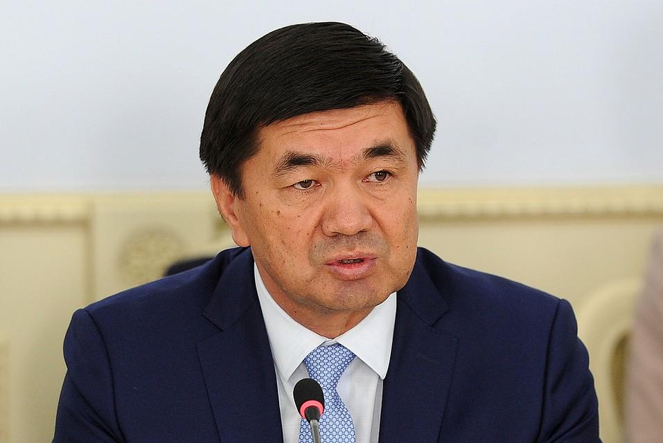 Премьер Кыргызстана уйдет вотставку для участия ввыборах президента