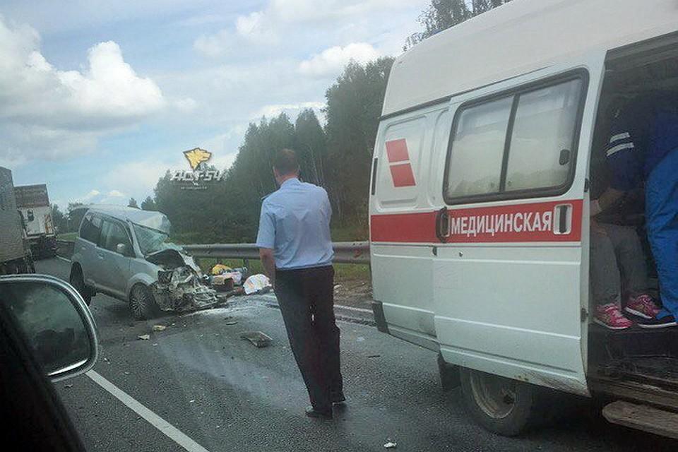 34-лентняя женщина погибла при столкновении 2-х Митсубиши под Новосибирском