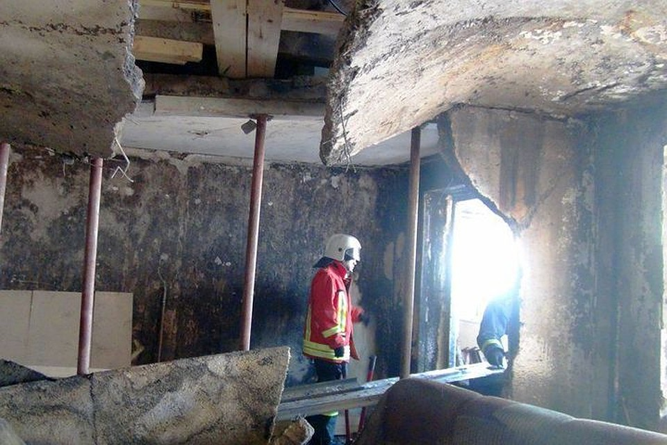 Вжилом доме вНовосибирске взорвался газовый баллон