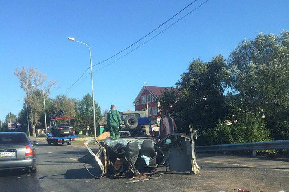 «Десятку» разорвало начасти вутреннем ДТП под Нижним Новгородом