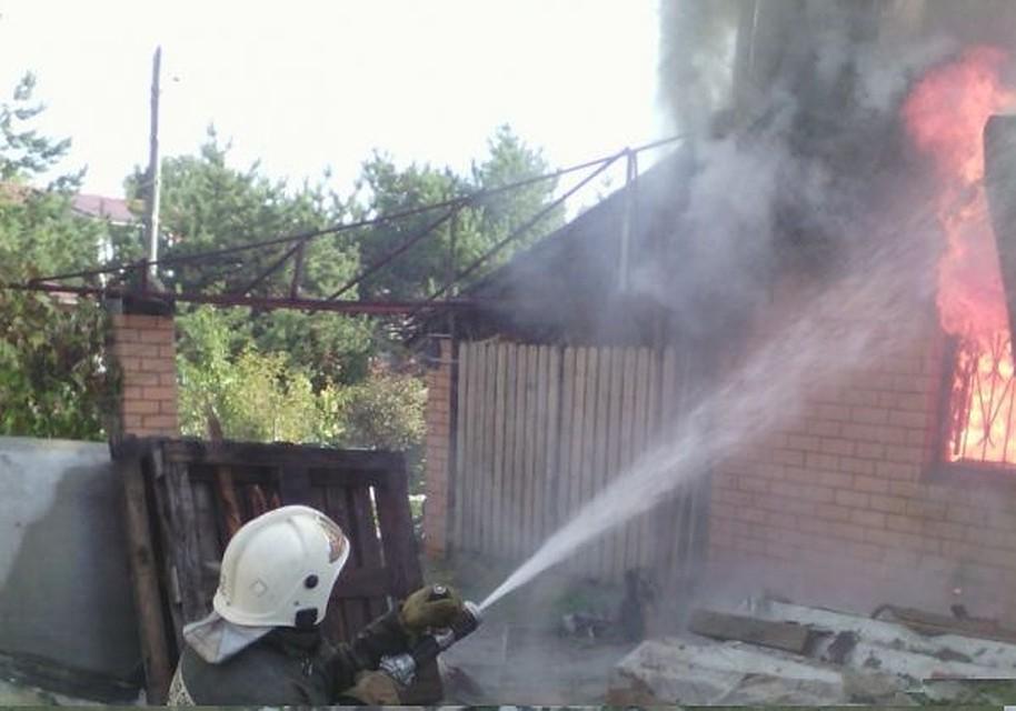 Напожаре вЗаокском районе пострадал пенсионер