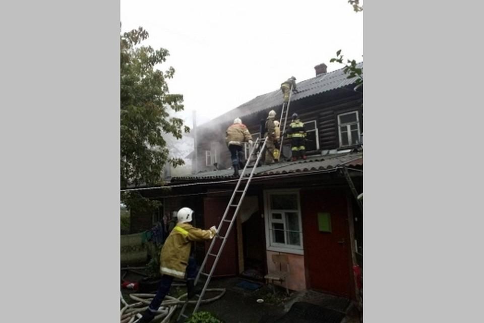 Напожаре вцентре Рязани умер мужчина
