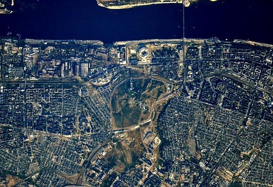Вглобальной web-сети  появились уникальные фотографии  Волгограда изкосмоса