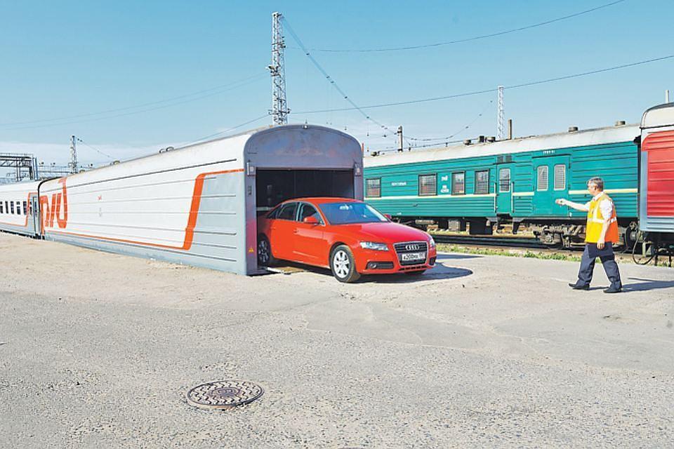 ИзКазани запущен 1-ый рейс поезда свагоном-автомобилевозом