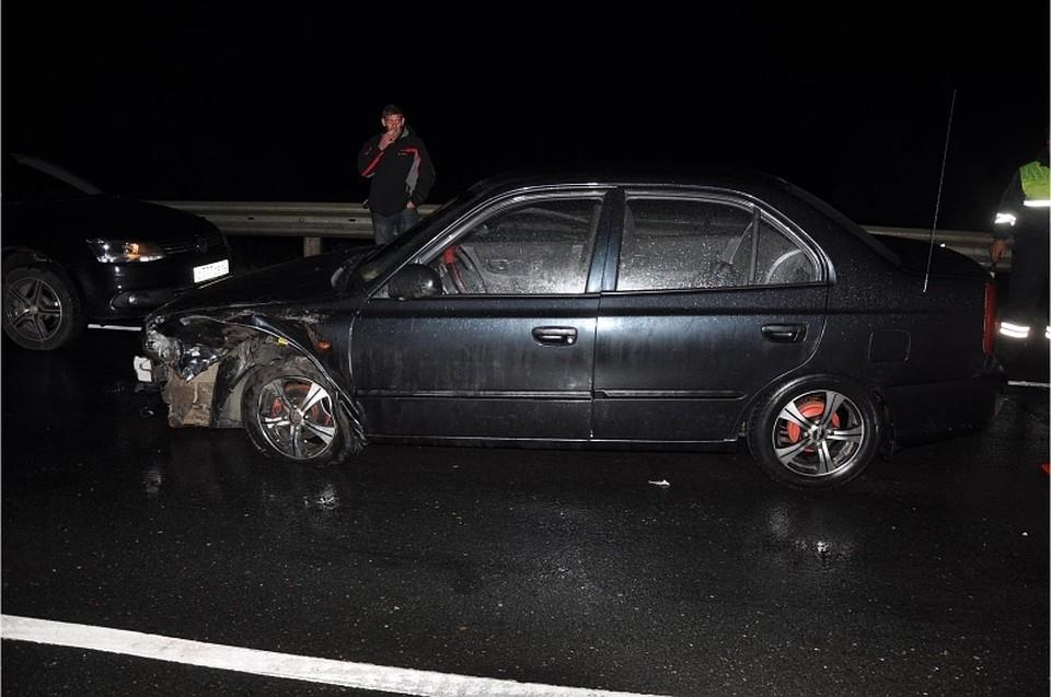 Двойное ДТП вРяжском районе— Хендай сбил мужчину напроезжей части