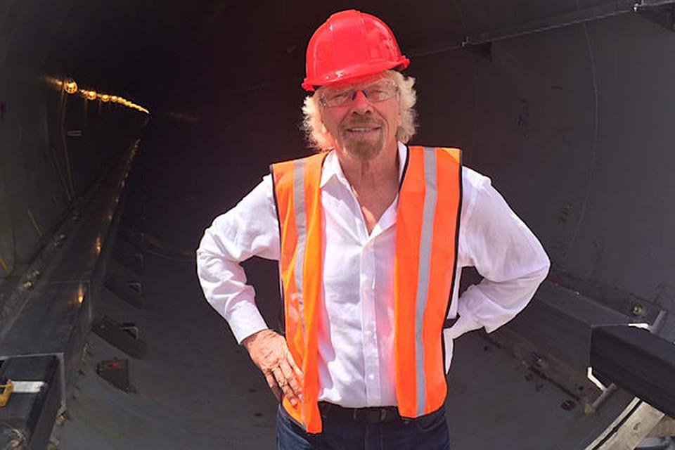 Основатель Virgin Group Ричард Брэнсон инвестировал вHyperloop One