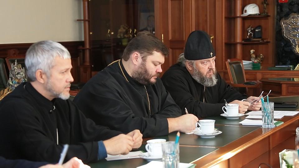 Губернатор Кузбасса встретился смитрополитом Аристархом ипредставителями духовенства