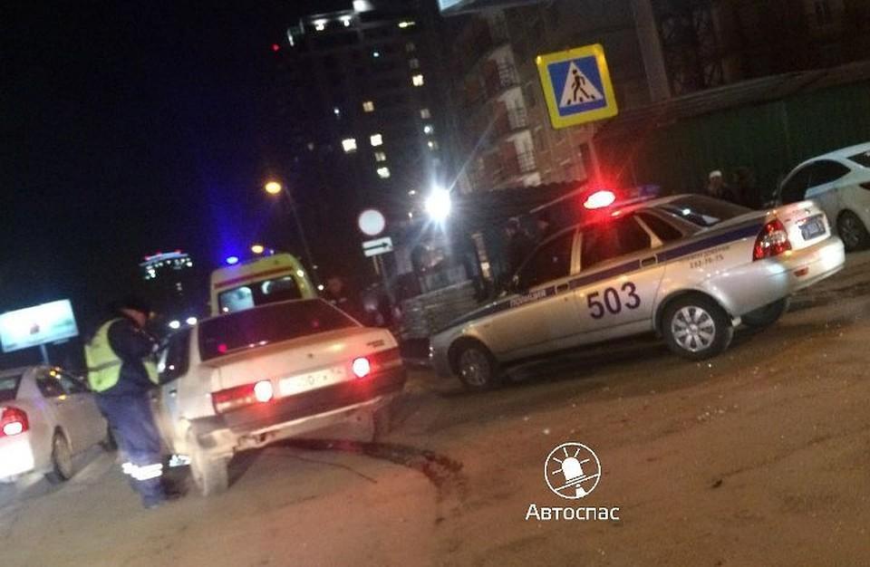 ВНовосибирске иностранная машина сбила пешехода наперекрестке