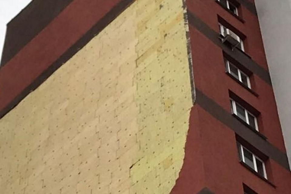 Часть фасада вУфе обрушилась из-за нарушения технологий