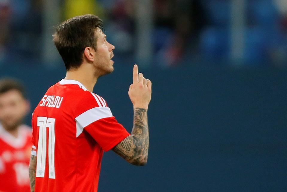 Федор Смолов забил гол в ворота Испании