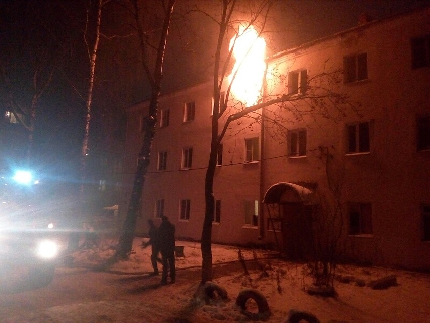 ВоВладимире пожарные спасли изгорящего дома мать ссыном