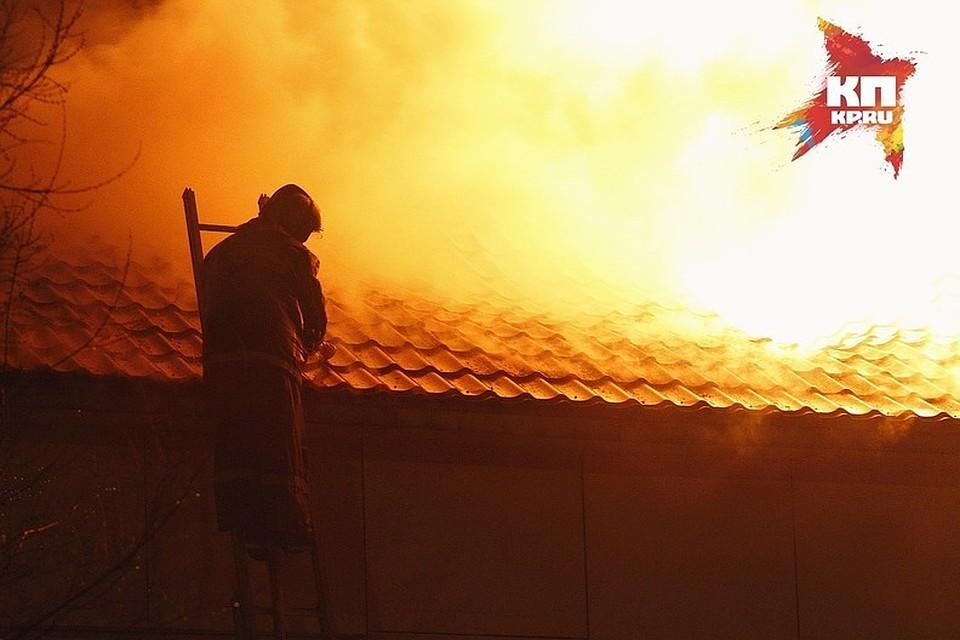Ребенок умер впожаре вдоме под Красноярском, еще три человека пострадали
