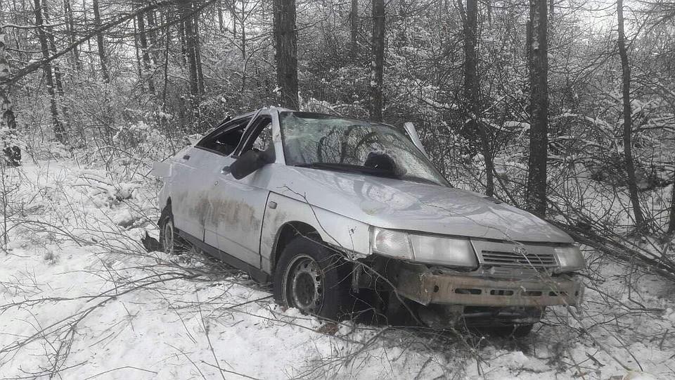 Ввылетевшем с дороги автомобиле умер тридцатидевятилетний мужчина