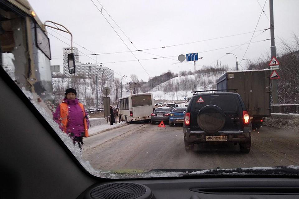 Нижний Новгород встал в немалых пробках 19декабря