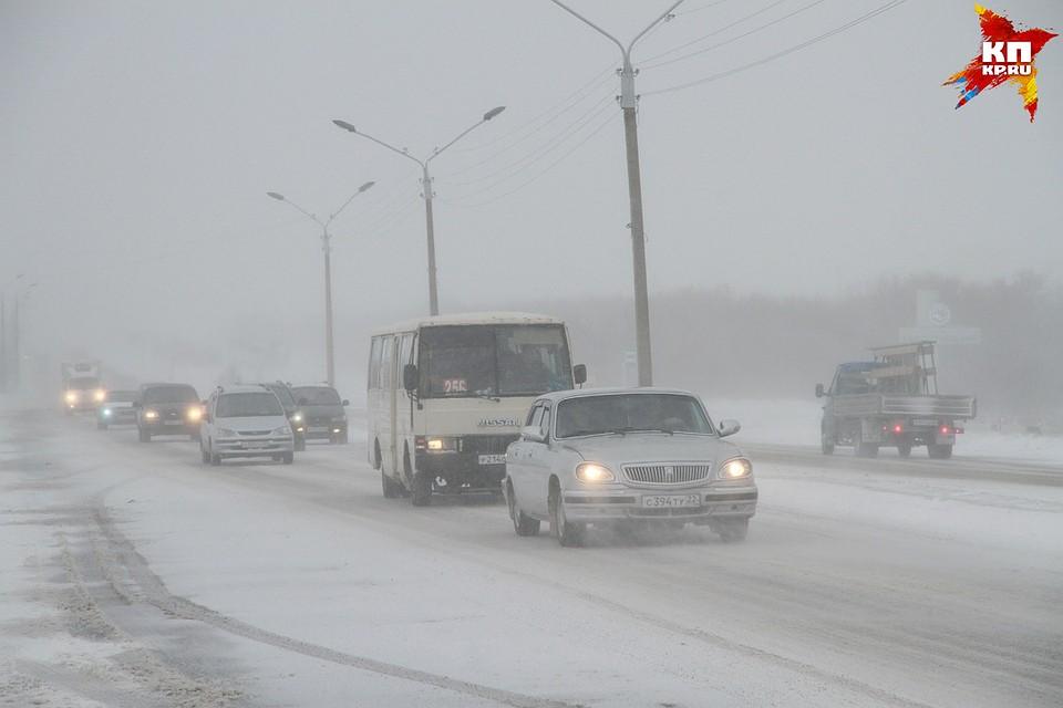 ВАлтайском крае из-за непогоды ограничили движение на 3-х трассах