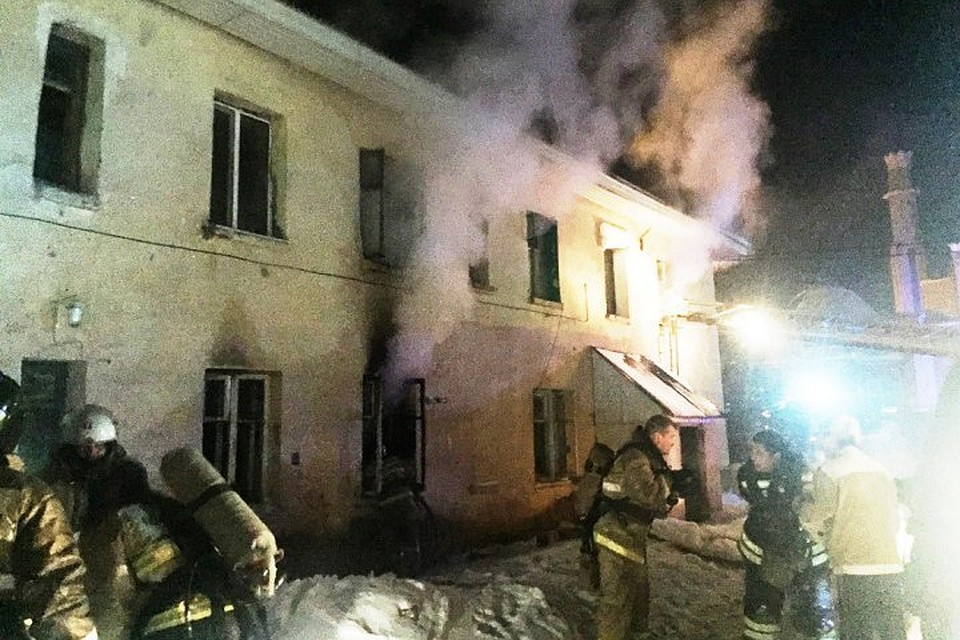 ВТатарстане напожаре пострадала женщина с 2-мя детьми