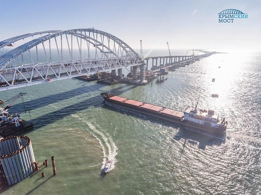 ВКерчи автоподход кКрымскому мосту готов на77 процентов