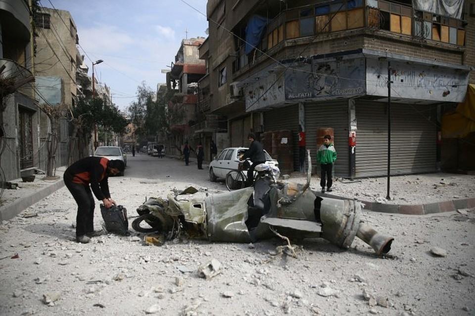Террористы вВосточной Гуте продолжают обстреливать Дамаск