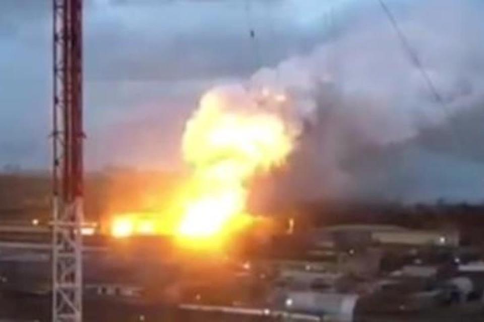 Пожар произошел назаводе вподмосковной Балашихе