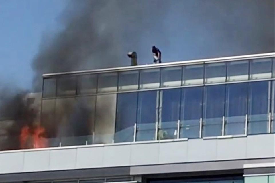 Пожар вТЦ «Времена года» наКутузовском проспекте ликвидирован