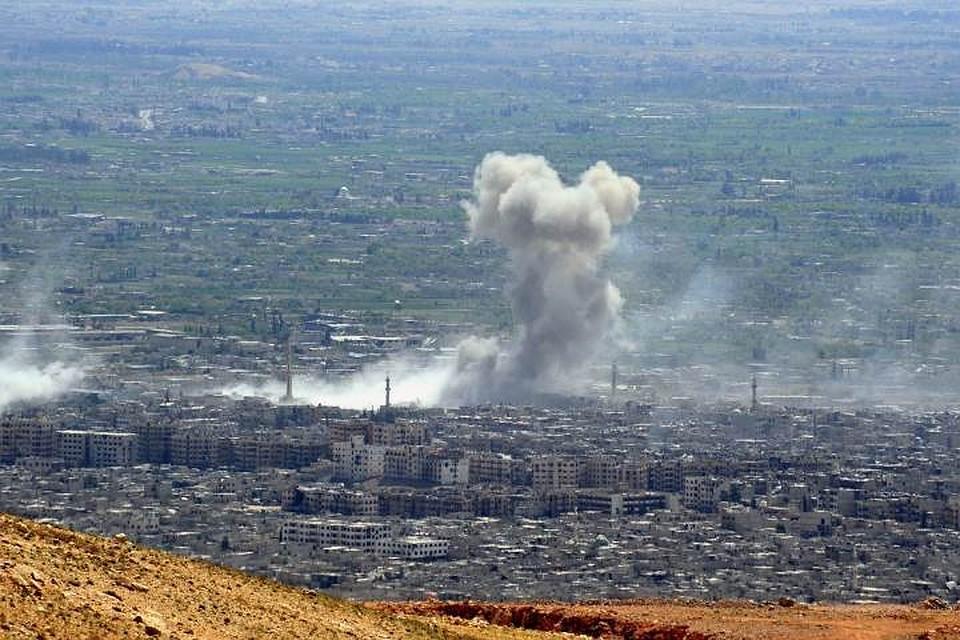 СМИ проинформировали  обавиаударе коалиции поодной изпозиций сирийской армии