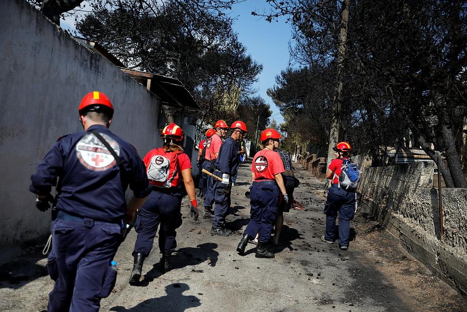 Последствия лесных пожаров вГреции попали навидео