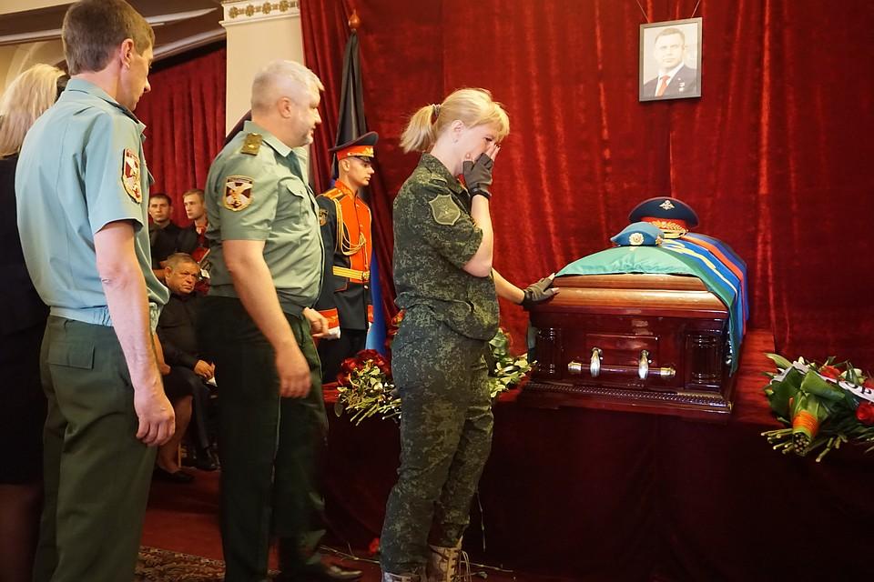 ВДонецке прощаются сглавой ДНР Алесандром Захарченко