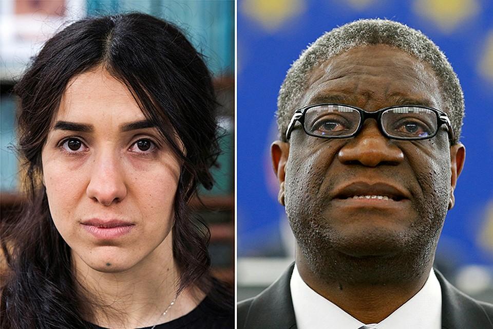 Лауреатами стали врач Демократической республики Конго Денис Муквеге и иракская правозащитница Надя Мурад Басе Таха