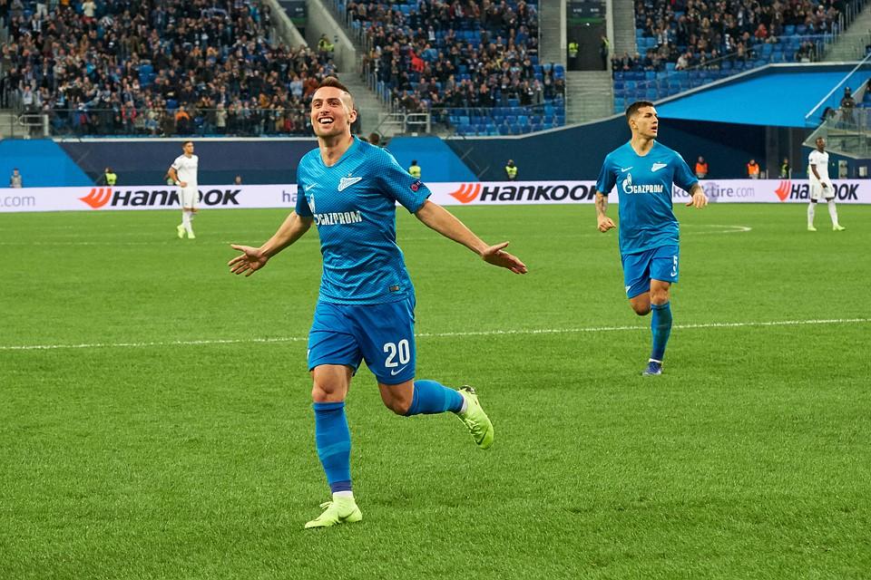 Гол Мака вывел «Зенит» вплей-офф Лиги Европы