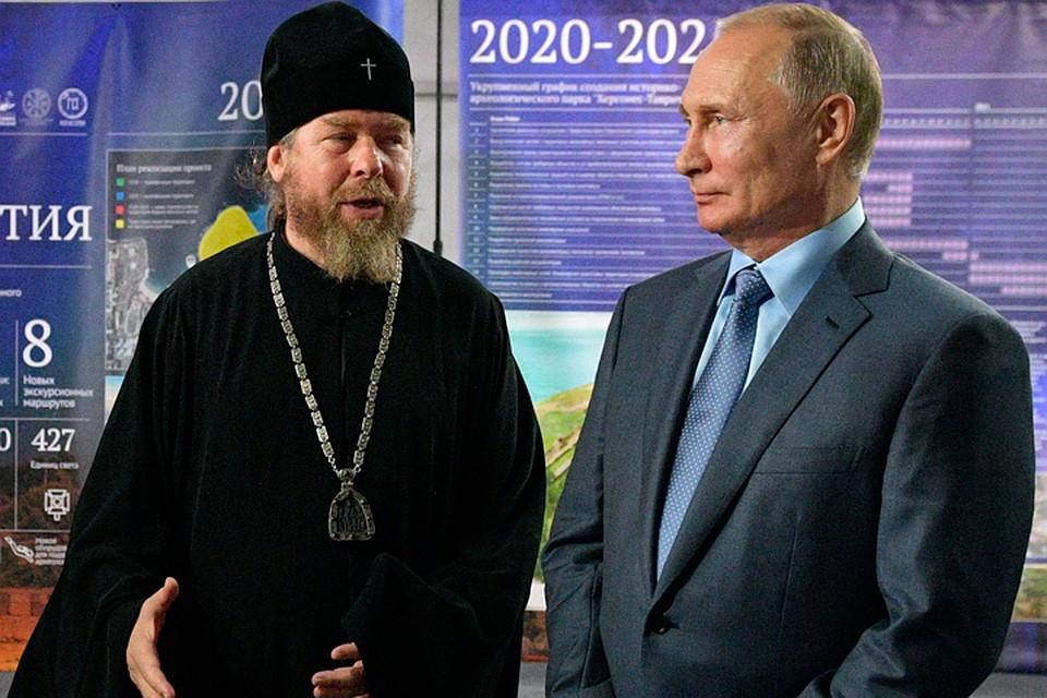 Вдревнем Херсонесе Путину показали спектакль обистории Севастополя