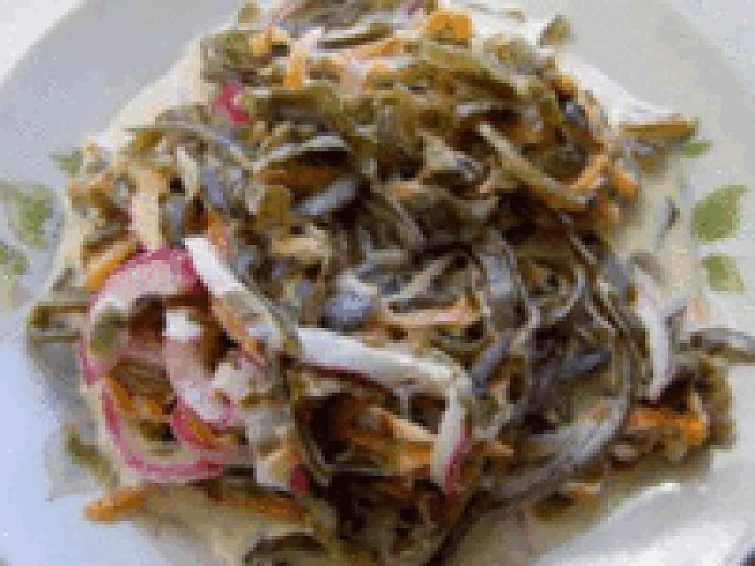 Морская капустаы салатов