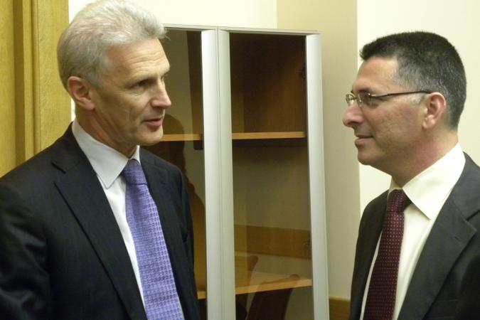 Министры образования РФ и Израиля Андрей Фурсенко и Гидеон Саар