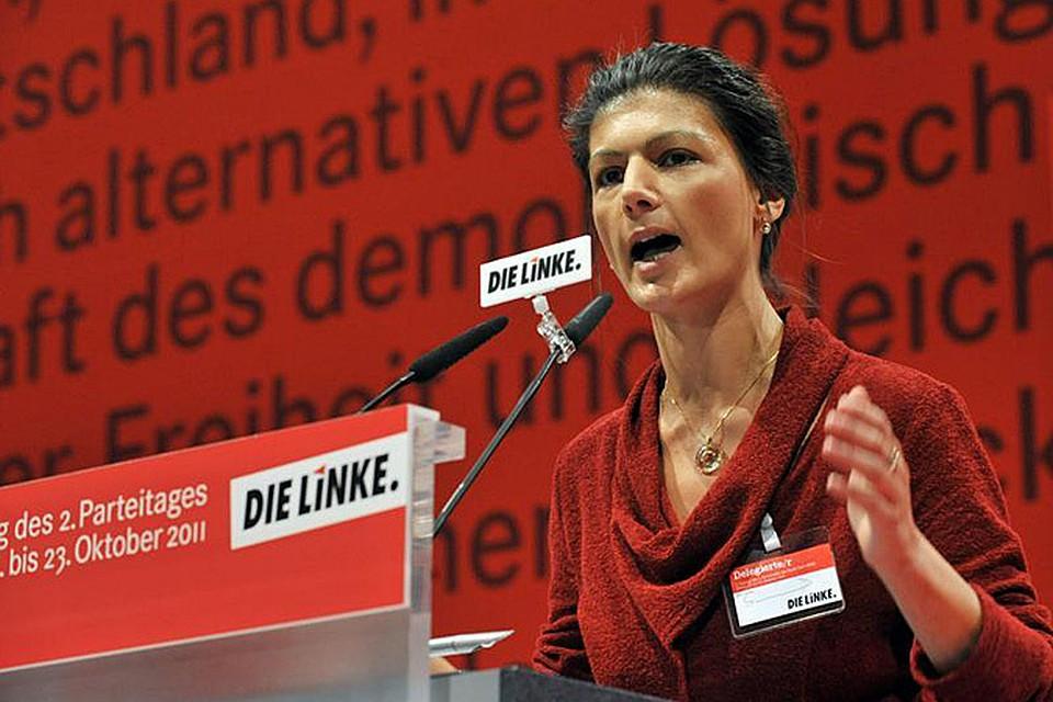 Обращаясь Ангеле Меркель, фрау Вагенкнехт всыпала канцлеру по первое число за политику Германии в отношении Украины