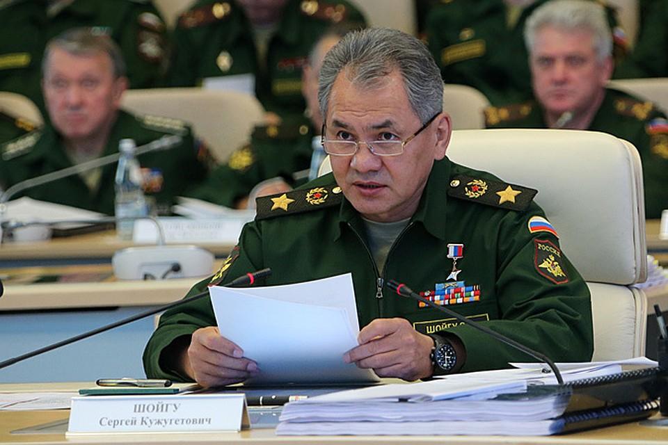 Министр обороны РФ генерал армии Сергей ШОЙГУ: Решение о создании НЦУО было принято Президентом России