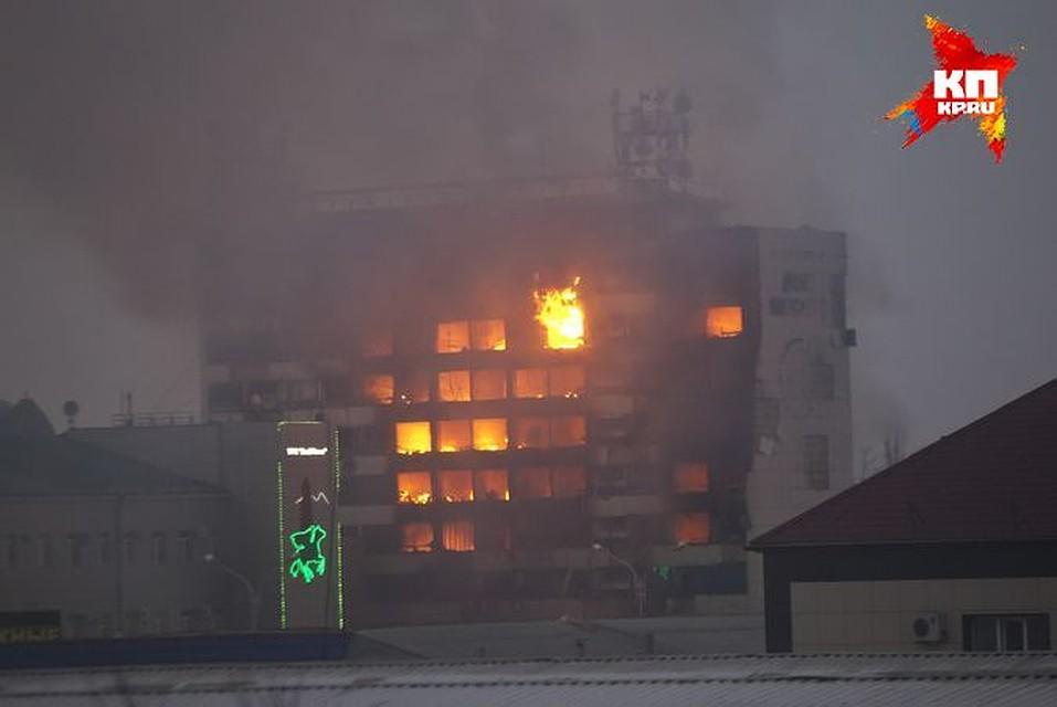 Дом печати выгорел до тла. Фото: Елена Фиткулина.