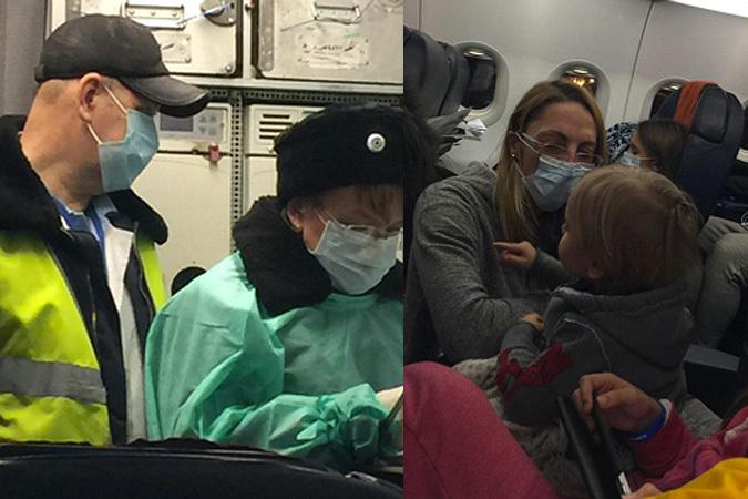 Первая группа врачей поднялась на борт лишь спустя час после посадки. Фото: соцсети